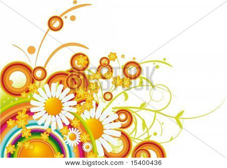 Floral vector abstract.
