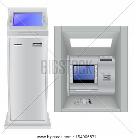 ATM. Automated Teller Machine. Vector illustration isolated on white background
