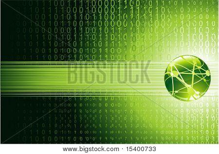 Digital world. Vector background.