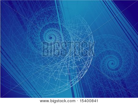 Vector vortex background #140. Deep.