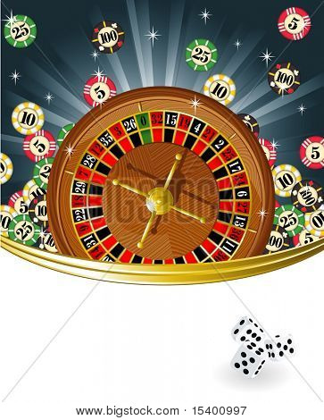 Ruleta. Vector.