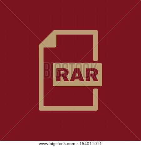 The RAR file icon. Archive, compressed symbol. Flat Vector illustration