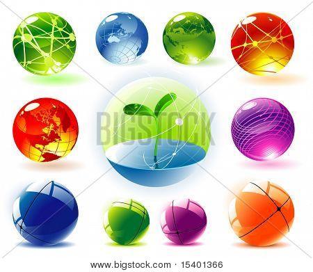 Esferas de vector orgánico