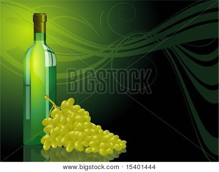 White vine. Vector template