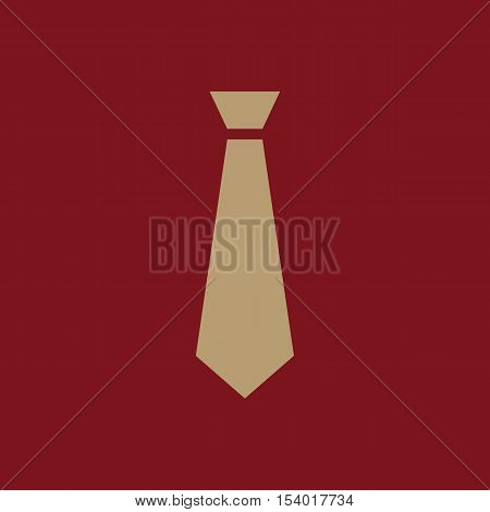 The tie icon. Necktie and fashion, dress code symbol. Flat Vector illustration