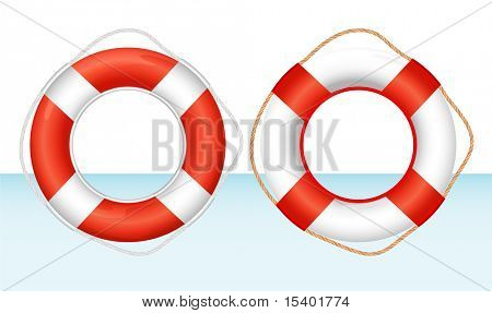 Ring bouy. Vector.