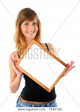 Smiling Girl With Frame