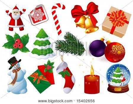 Christmas icons vector set.