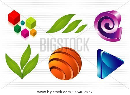 Abstract signs. Vector icons set.