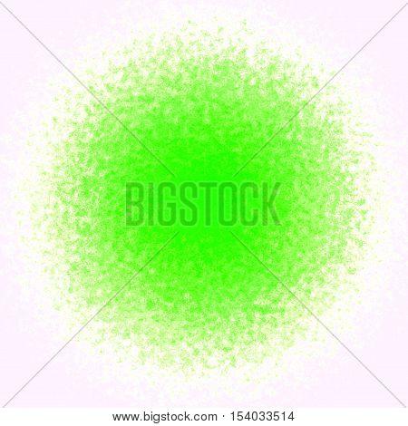 Fresh green ball spot stain splash background