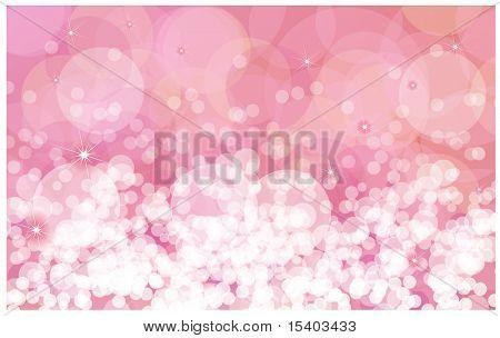 Destellos de rosa vector fondo.