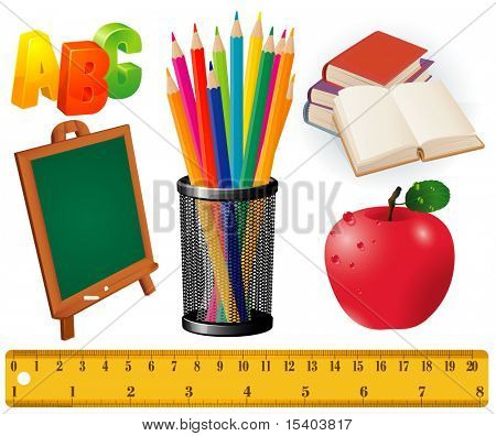 Back to school. Vector design elements set.