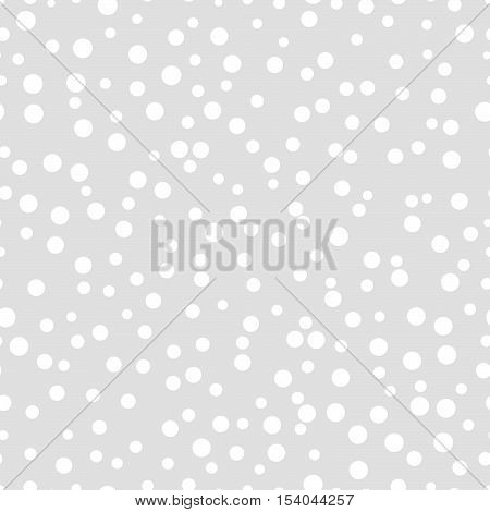 Chaotic dots on a gray background Dots Seamless Pattern Dots Seamless Background White Circles Dots different sizes