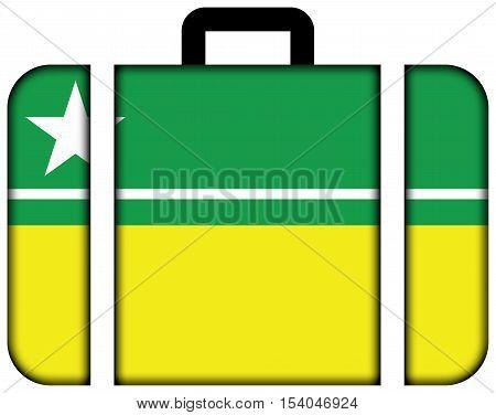 Flag Of Boa Vista, Roraima, Brazil. Suitcase Icon, Travel And Transportation Concept