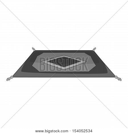 Traditional turkish carpet icon. Gray monochrome illustration of carpet vector icon for web design