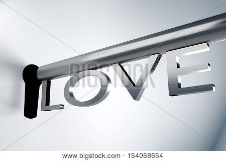key love open lock keyhole key solution lock keyhole 3D illustration