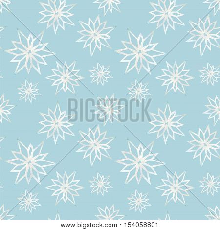 Snowflakes on a blue background winter pattern Winter pattern abstract snowflake Background watercolor snowflakes Snowflakes seamless background watercolor Winter background seamless pattern