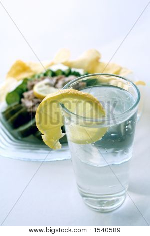 Soda Drink, Tuna With Pickles & Chips