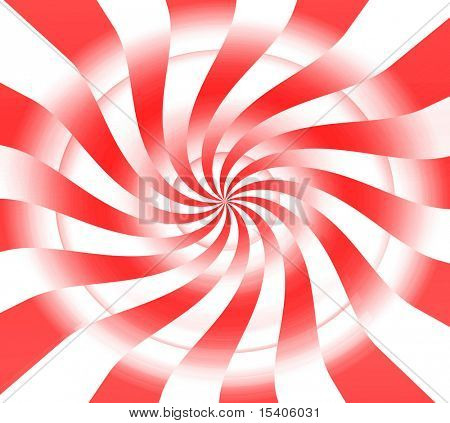 Red and White Peppermint Candy Abstract