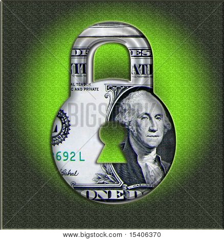 Secure Money  Price Lock Made From Photographed Money