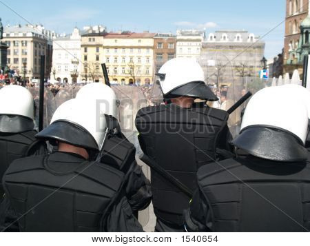 Riot Police At Love Parade