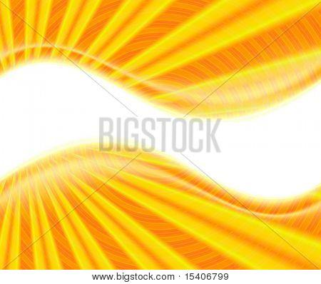 Sunburst On White