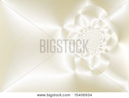 Smooth Beige Satin and Lace Flower