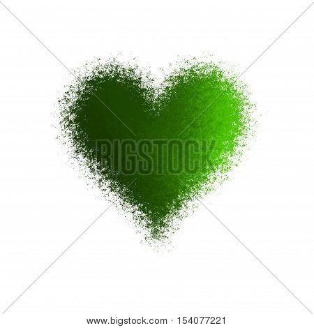 Amazing abstract diffuse green heart background image