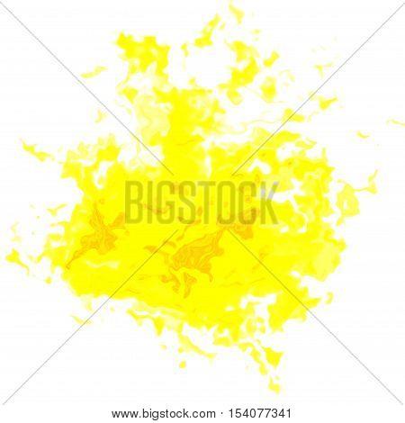 Yellow abstract irregular diffuse blotchy blob stain spot