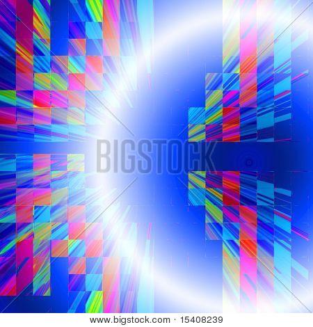 Abstract Space Tech Burst Design