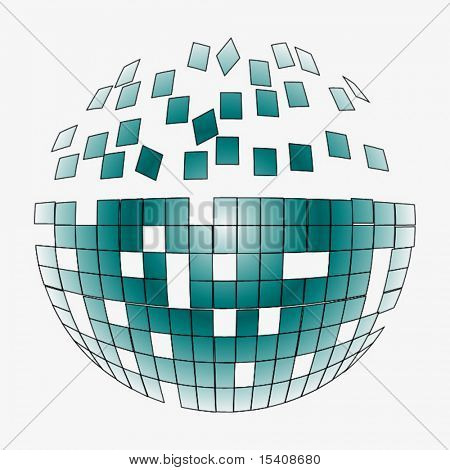 Vector Breaking Mirror Ball Puzzle