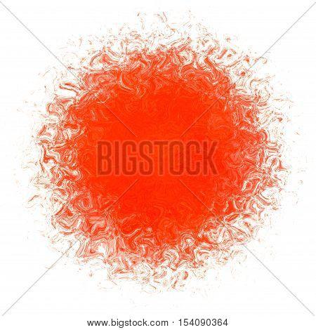 Red orange diffuse splatter regular orb ball