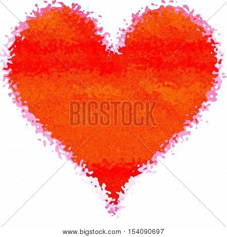 Beautiful diffuse splash splatter decor red heart