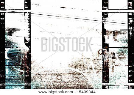 Filmstrip Grunge Background
