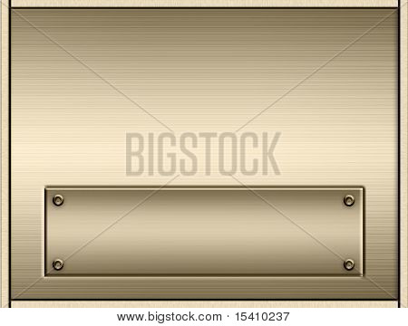 Gold Metal Nameplate