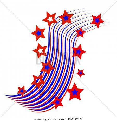 Vector Patriotic Stars And Stripes Background