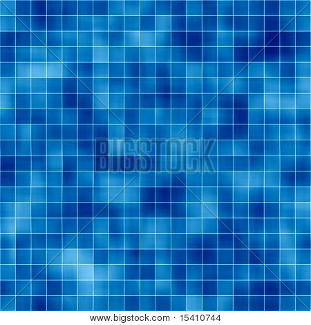 Large Seamless Blue Tiles Background