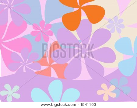 Retro Flower Background - Vector