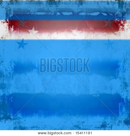 Patriotic Stars and Stripes Grunge, See Vector Also In My Portfolio