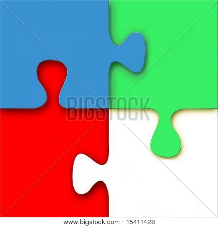 Bright Puzzle, See Vector Also In My Portfolio