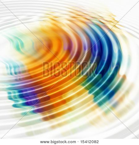 Colorful Water Ripples, See Vector In My Portfolio