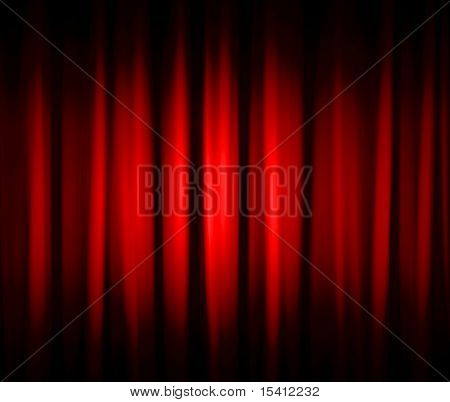 Red Dramatic Stage Drapes