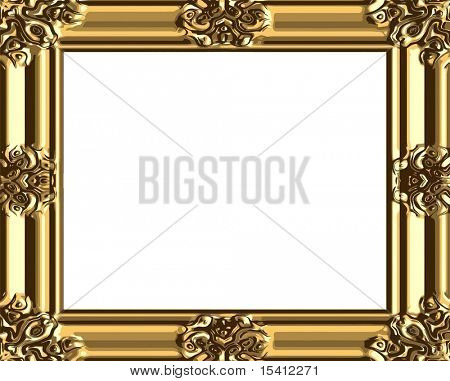 Vector Decorative Gold Frame, Also See Jpeg In My Portfolio