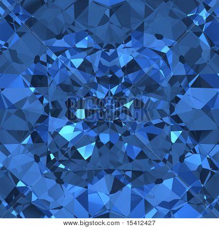 Blue Sparkling Diamonds, Seamless Tile