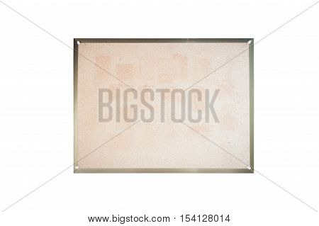 Blank board on white background, stock photo