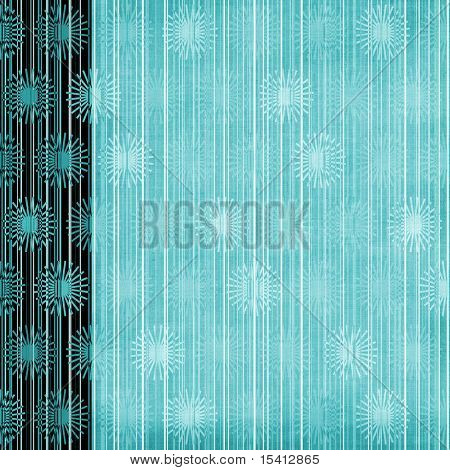 Floral Elements And Stripes Large Grunge Background