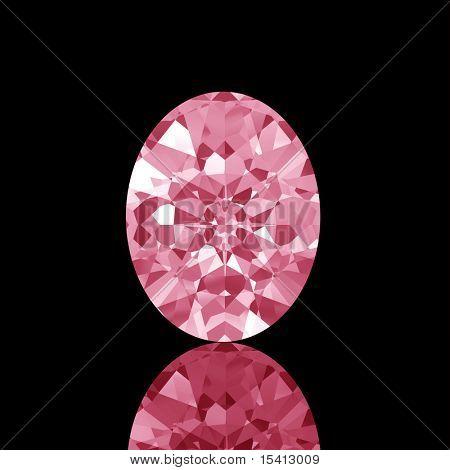 Sparkling Oval Diamond
