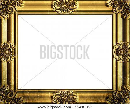 Decorative Antique Gold Frame, See Vector Also In My Portfolio