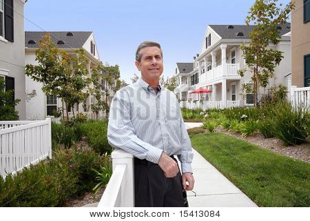 Handsome Mature Man And Houses