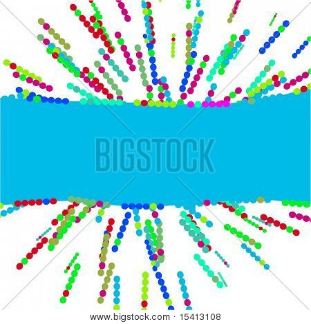 Vector Color Burst With Banner, See Jpeg Also In My Portfolio